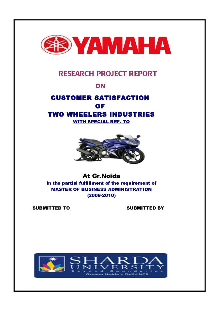 a project reports on customer satisfaction Customer satisfaction towards honda two wheelers: a case  will have to be generated from new facilities even as reports are  customer satisfaction provides an .