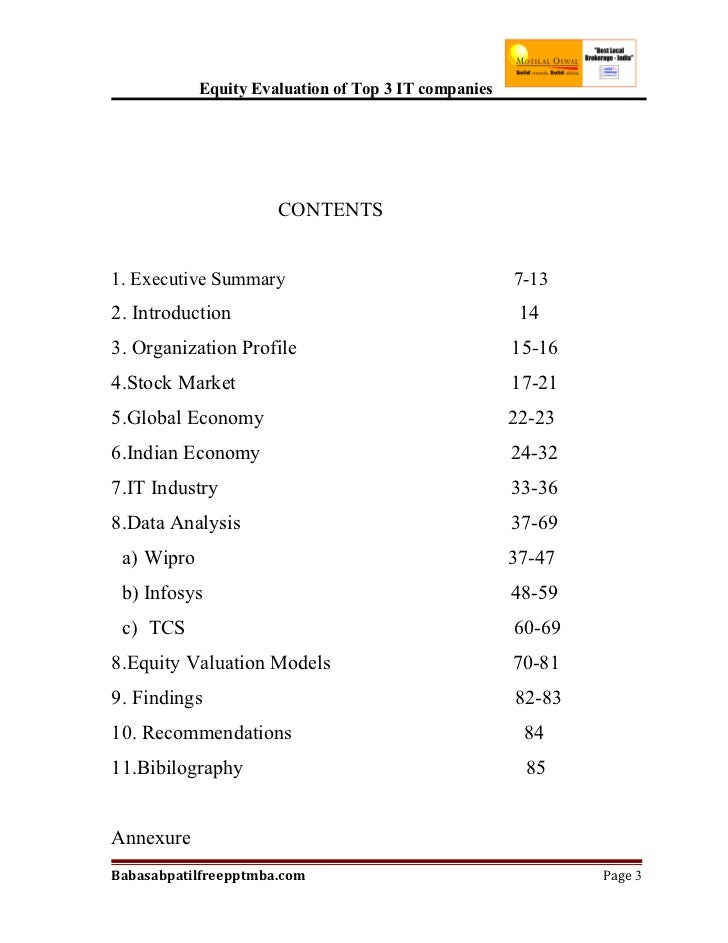 Complete list of stock options
