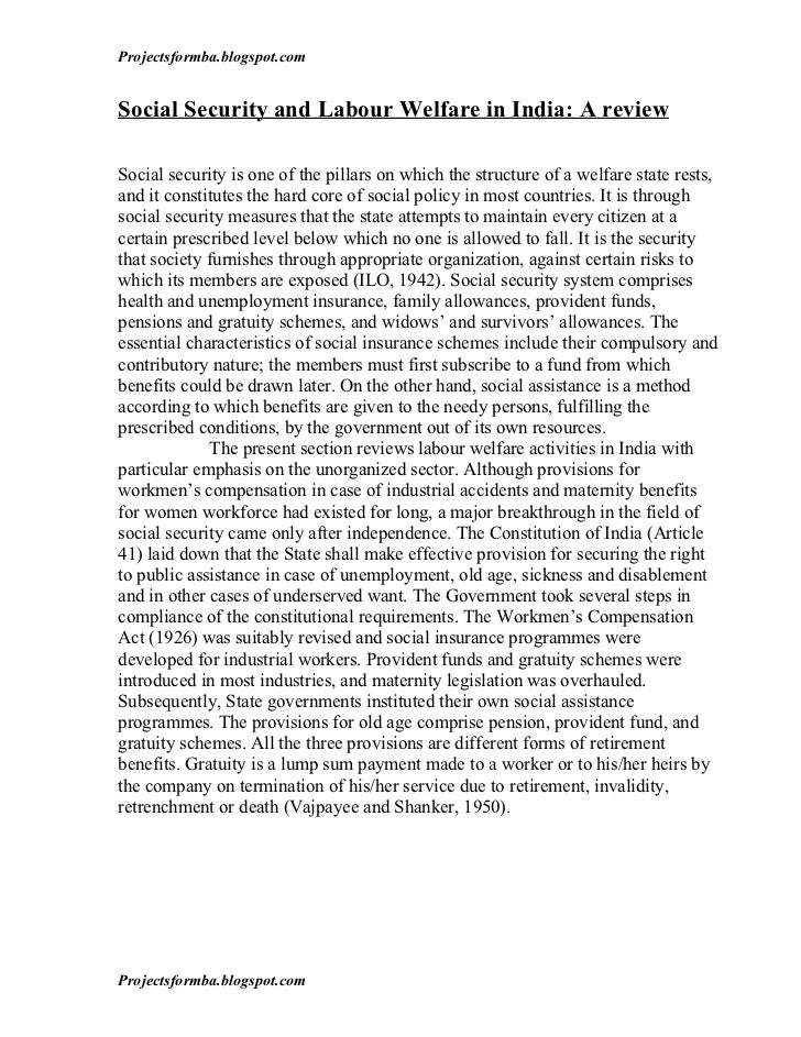Child labor thesis statement