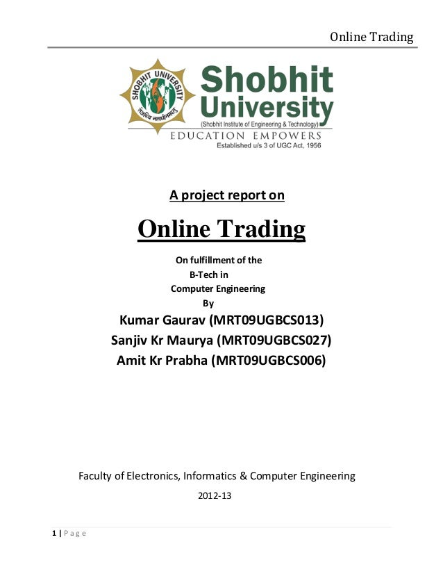 Online trading system project