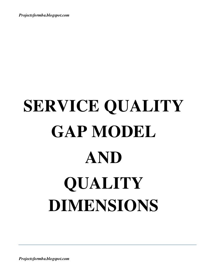 Dissertation Quality Service