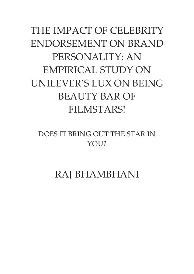 celebrity endorsement impact on consumer behavior thesis The influence of celebrity endorsement on actual purchase behaviour with mediating celebrity endorsement on consumer's actual purchase behavior and.