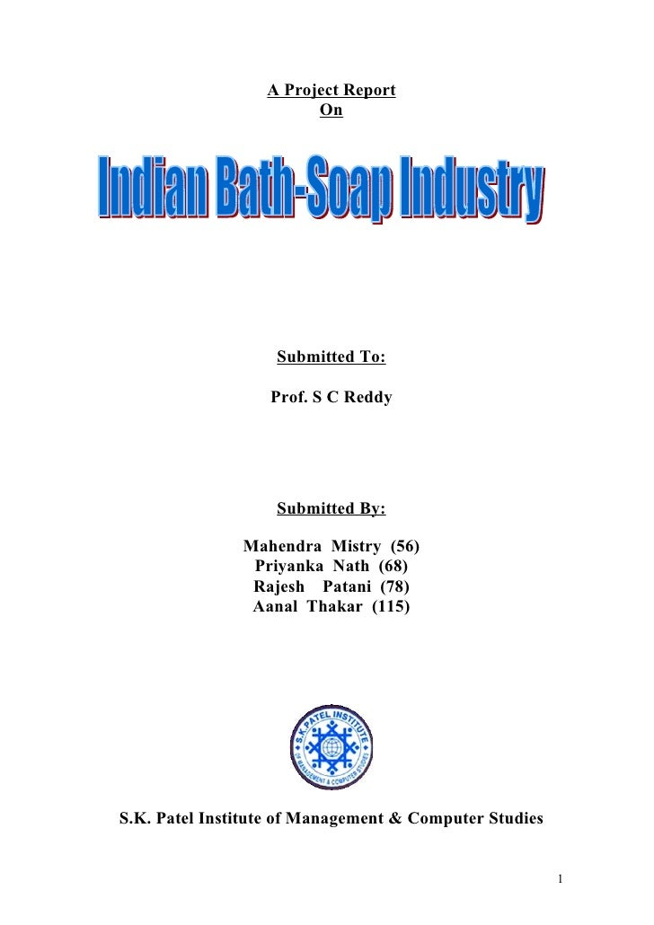 A Project Report                        On                   Submitted To:                  Prof. S C Reddy               ...