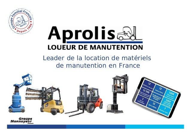 Leader de la location de matériels de manutention en France