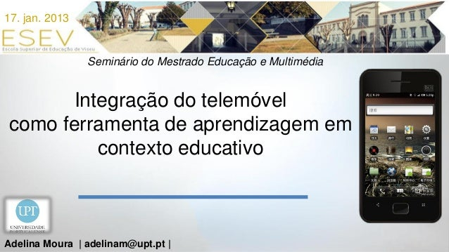 Integração do telemóvel como ferramenta de aprendizagem em contexto educativo