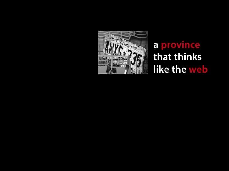 A Province That Thinks Like the Web