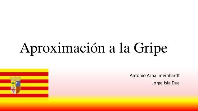 Aproximación a la Gripe Antonio Arnal meinhardt  Jorge Isla Due