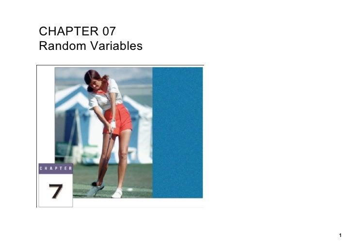 CHAPTER07 RandomVariables                        1