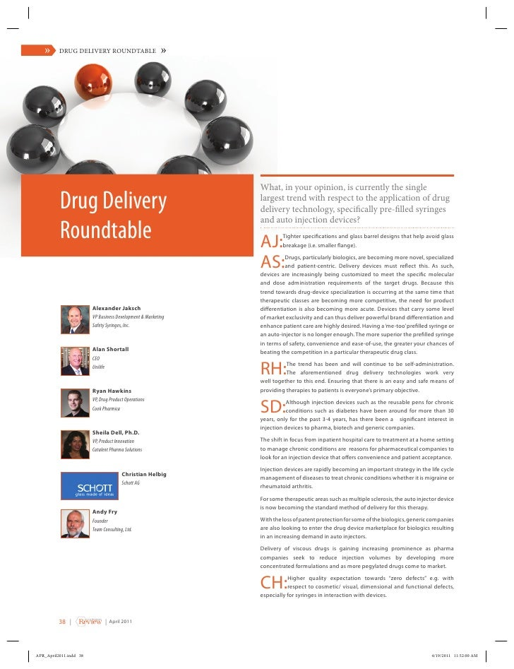 American Pharmaceutical Review: Drug Delivery Roundtable
