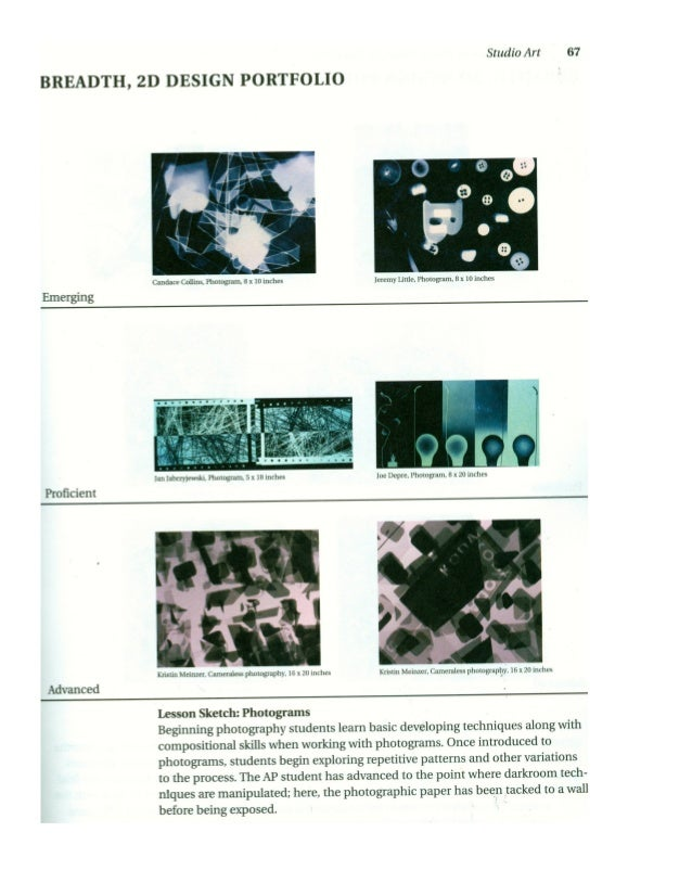 Photogram  8 x 10 inches L 10 L Ap Board Examples