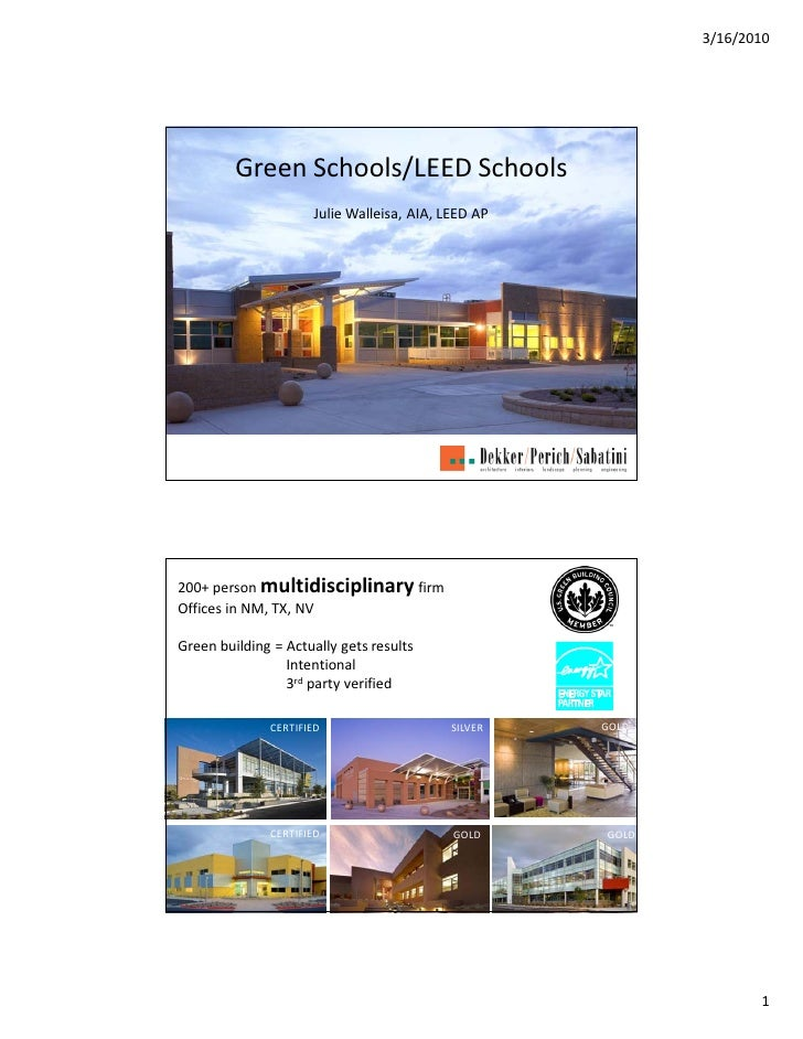 Albuquerque Public Schools: Green Schools/LEED Schools