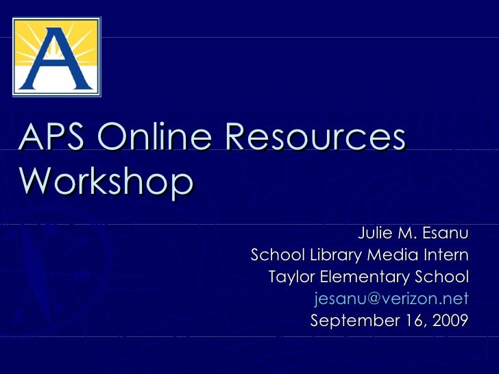 APS Online Research Resources Workshop