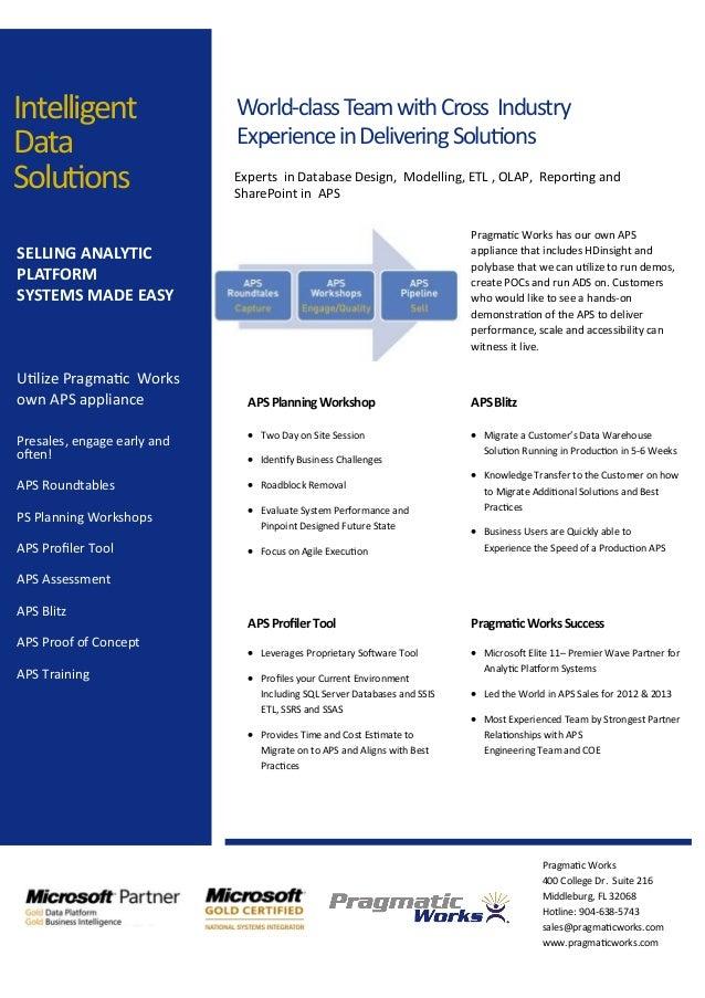 Pragmatic Works 400 College Dr. Suite 216 Middleburg, FL 32068 Hotline: 904-638-5743 sales@pragmaticworks.com www.pragmati...