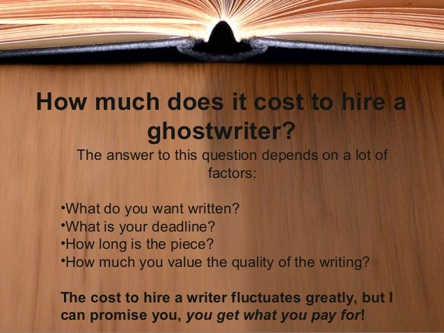 Professional ghostwriters referral service image 2