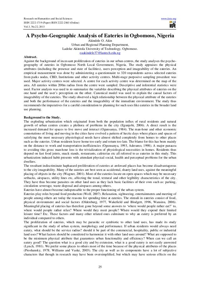 Research on Humanities and Social Sciences ISSN 2222-1719 (Paper) ISSN 2222-2863 (Online) Vol.3, No.22, 2013  www.iiste.or...