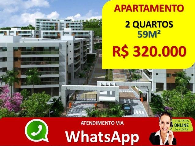 APARTAMENTO 2 QUARTOS 59M² R$ 320.000 ATENDIMENTO VIA WhatsApp