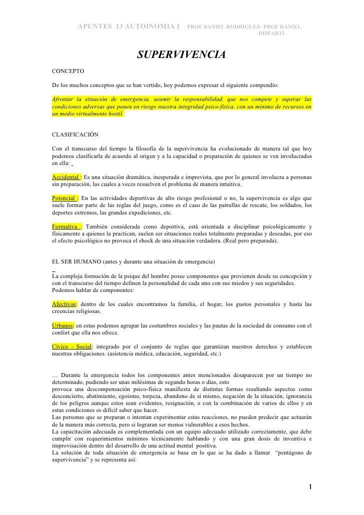 APUNTES 13 AUTOINOMIA I                      PROF DANIEL RODRIGUEZ- PROF DANIEL                                           ...