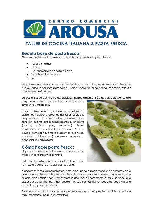 Recetas Pasta Fresca