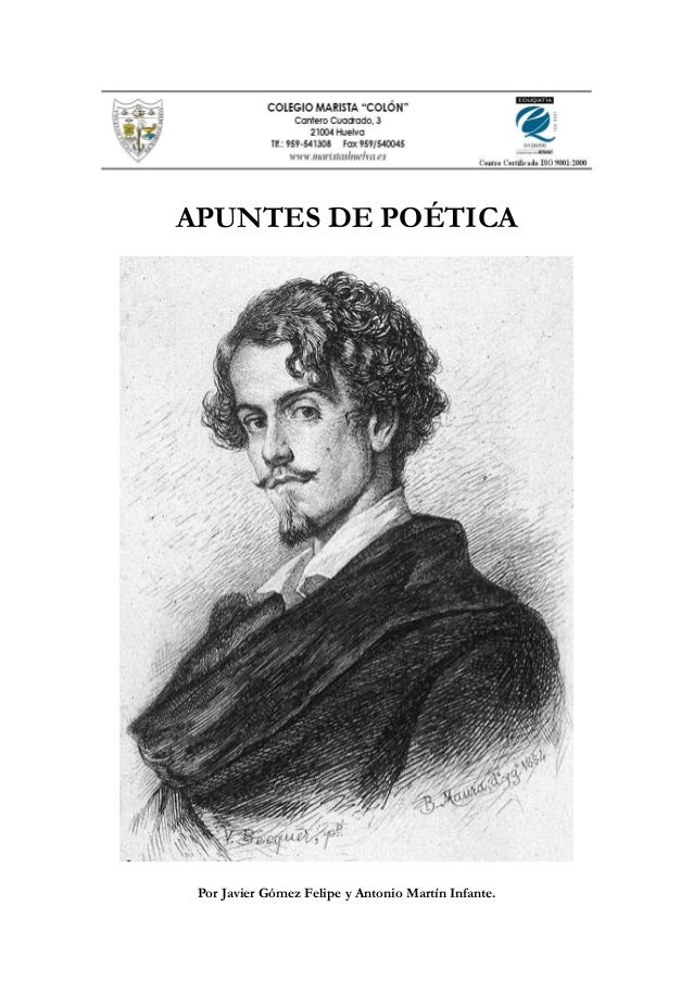 APUNTES DE POÉTICAPor Javier Gómez Felipe y Antonio Martín Infante.