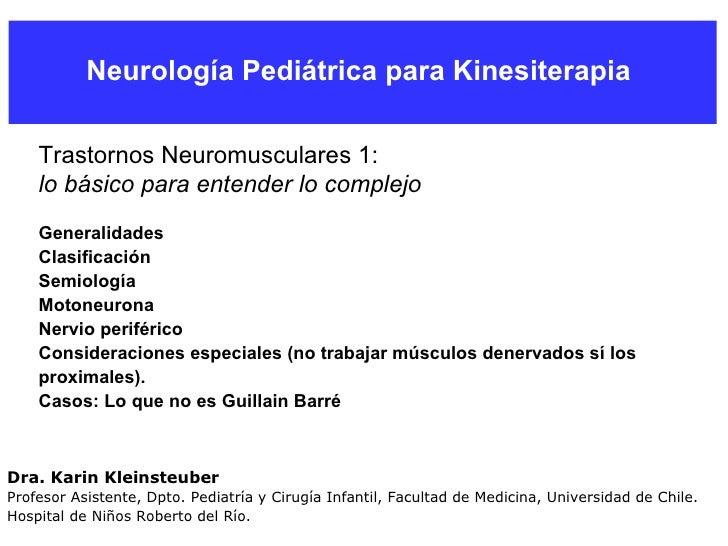 Enfermedades Neuromusculares Pediatricas  Parte 1
