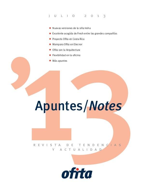 31Apuntes/Notes r e v i s t a d e t e n d e n c i a s y a c t u a l i d a d j u l i o 2 0 1 3 Nuevas versiones de la silla...