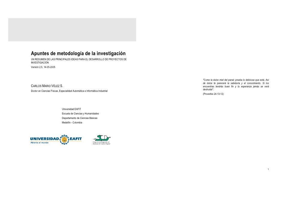 Apuntes metodologia investigación