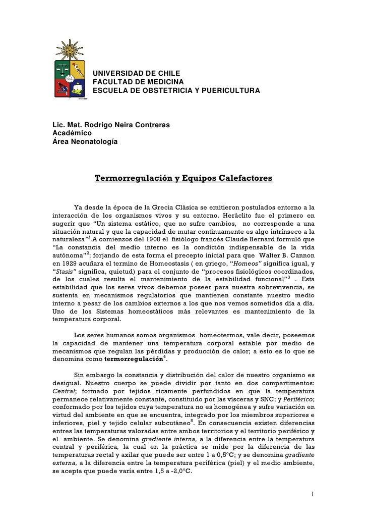 Apunte termorregulación 2009