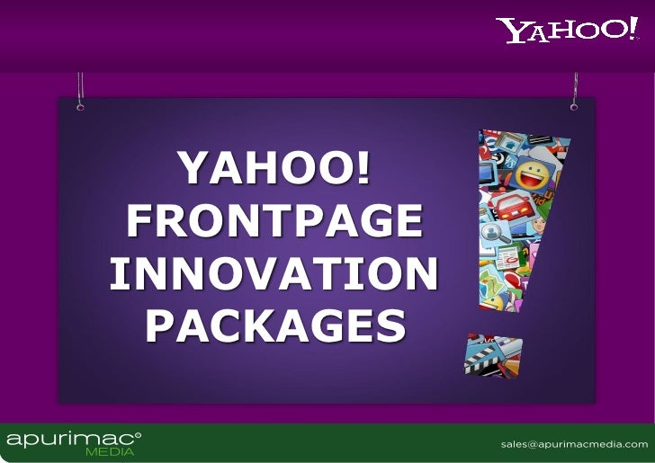 YAHOO! FRONTPAGEINNOVATION  PACKAGES