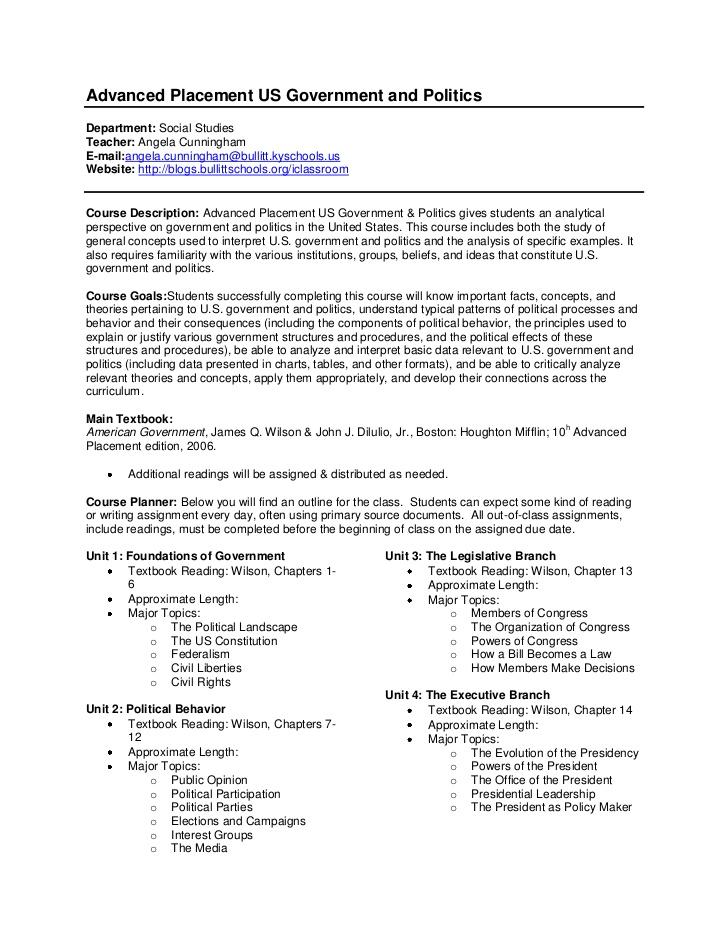 AP United States Government and Politics Exam Practice ...