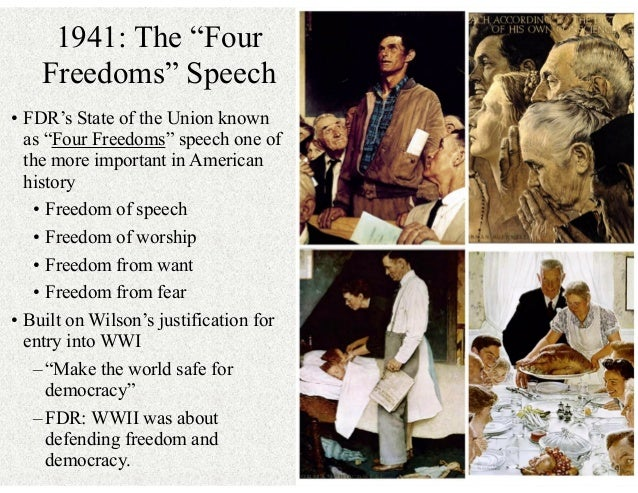 fdr four freedoms speech Learn how franklin delano roosevelt played a key role in the context of four freedoms speech read a biography and get in-depth analysis.