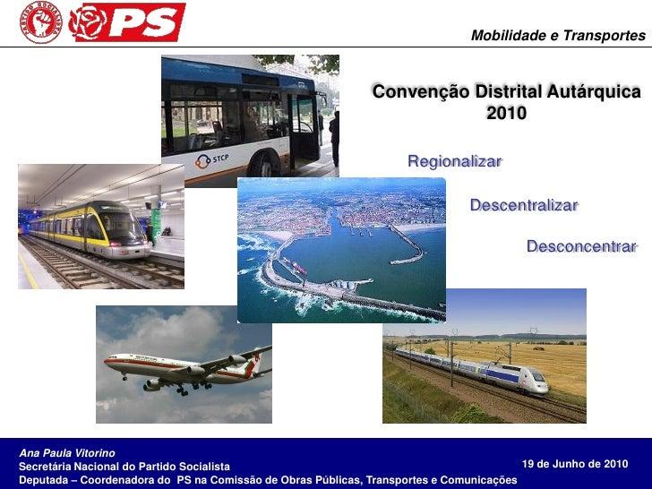 Mobilidade e Transportes                                                                 Convenção Distrital Autárquica   ...
