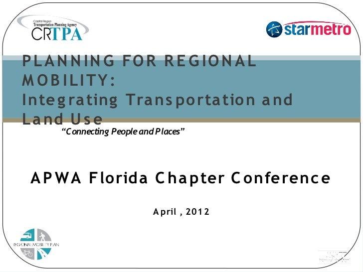 APWA Regional Mobility Plan