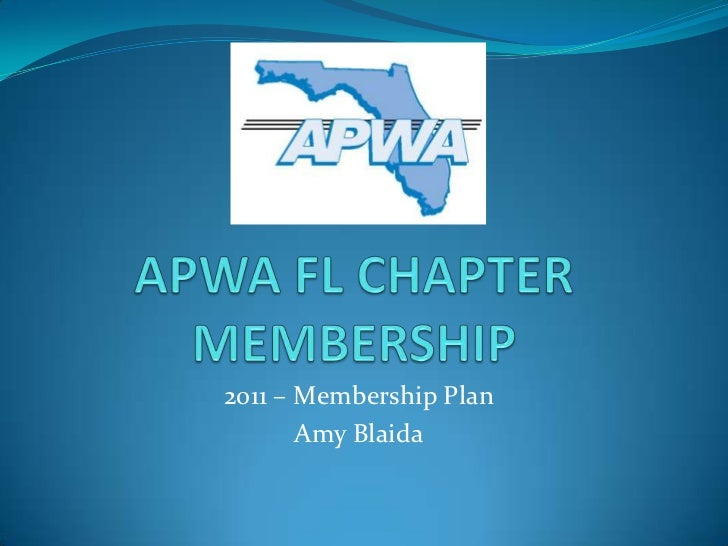 Apwa fl chapter membership