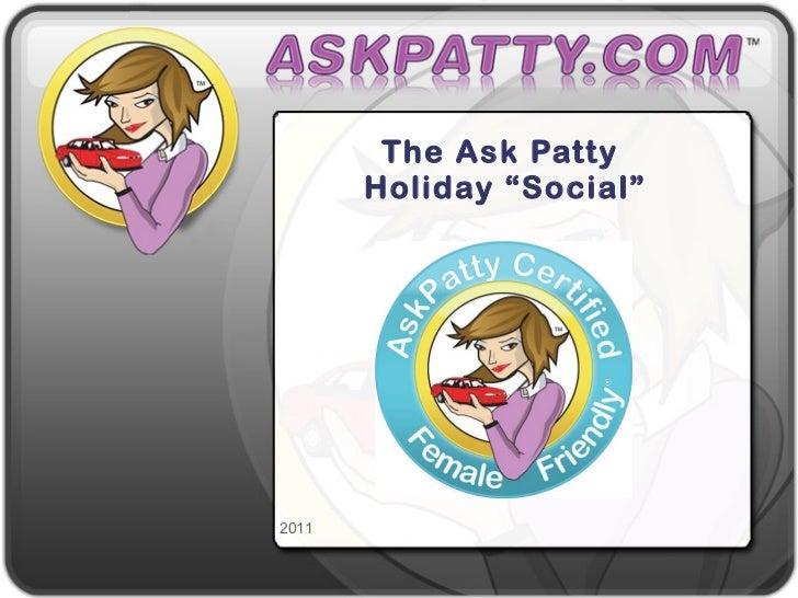 """The Ask Patty Holiday """"Social"""""""