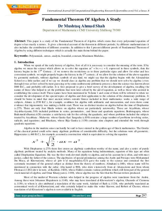 I nternational Journal Of Computational Engineering Research (ijceronline.com) Vol. 2 Issue. 8                           F...