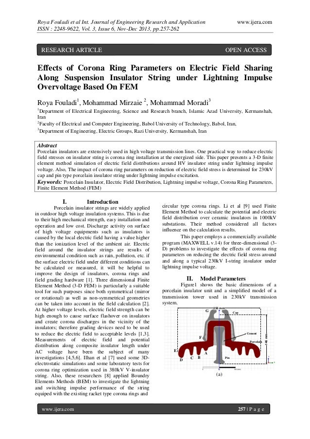 Roya Fouladi et al Int. Journal of Engineering Research and Application ISSN : 2248-9622, Vol. 3, Issue 6, Nov-Dec 2013, p...