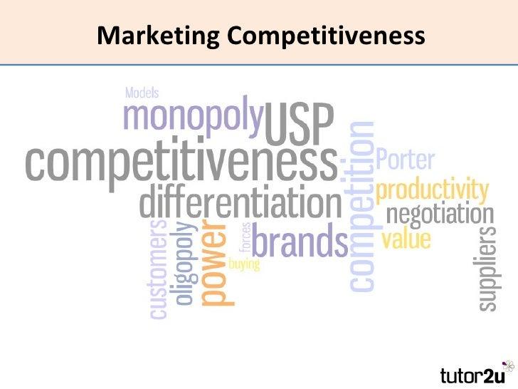 Marketing Competitiveness
