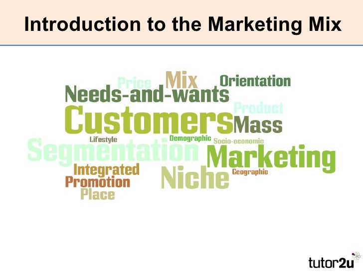 Introduction to the Marketing Mix