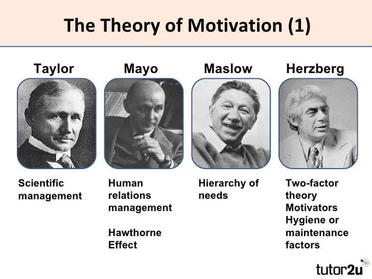maslow and taylor Taylor's theory • mayo effect • maslow and herzberg glossar y www thetimes100couk conglomerate: a group of businesses joined in a single entity.