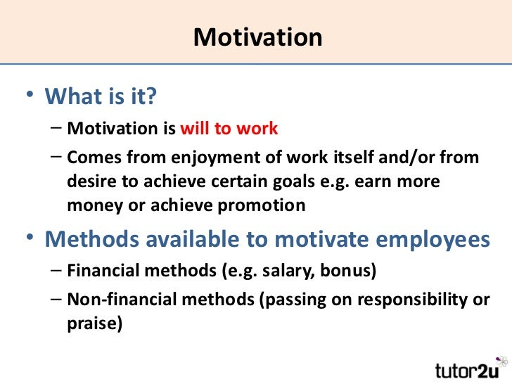 non financial methods of motivating employees The benefits of non-financial  the current climate has made it ever more important for businesses to adopt new ways of motivating employees in order to both.