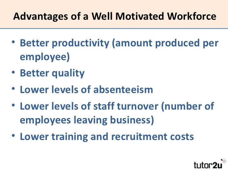 motivation to work well depends more Surveys and studies dating back to the early 1980s demonstrate that people want more from work a job well done by work inspires motivation.