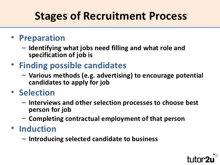 systematic stages of recruitment selection process Selection process as human resource function  recruitment &  selection 09-03-2011-1  ensures that allr eleant information on the candidate  is covered systematically  the main steps of the recruitment process are: 1 2 3.