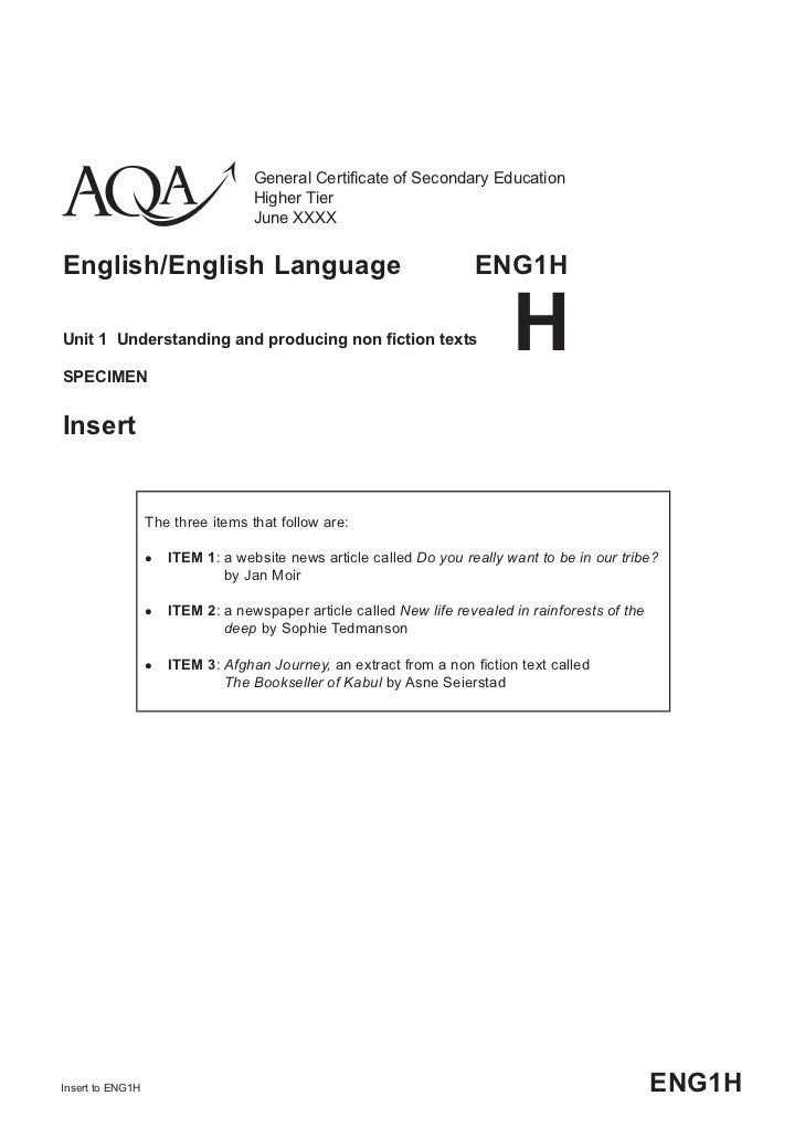 aqa gcse english english language paper 1 Unseen fiction will introduce your ks4 students to the unseen element of the gcse english language exam, providing them with step-by-step support to develop their.