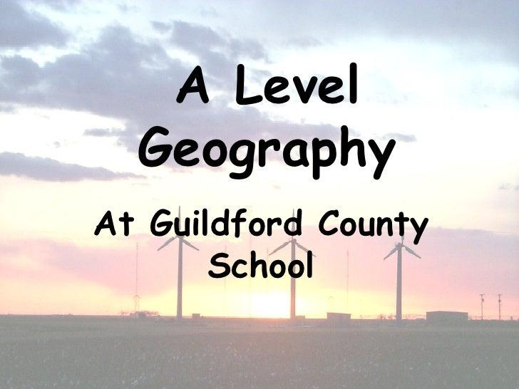 AQA Geography A level