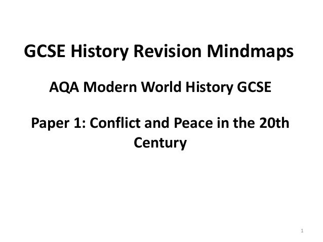 Aqa international relations gcse history revision mindmaps