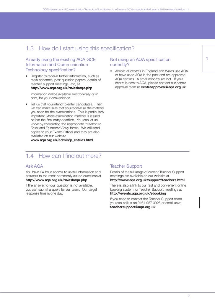 aqa computing coursework specification Section 75 write-up checklist section 75: how to write up the project checklist for coursework write-up 1 general h.