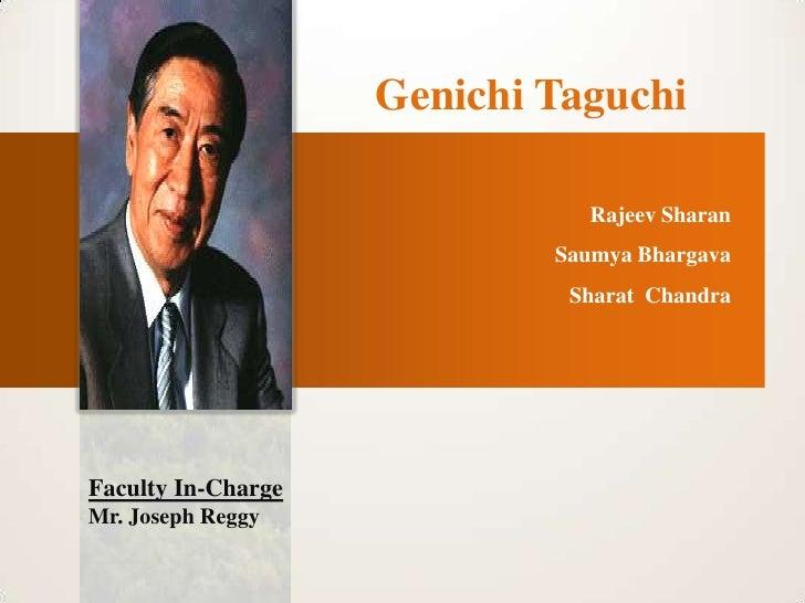 Genichi Taguchi                              Rajeev Sharan                            Saumya Bhargava                     ...