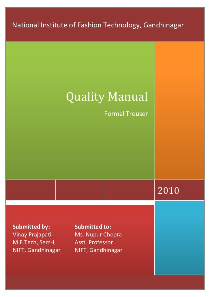 Trouser Quality Manual
