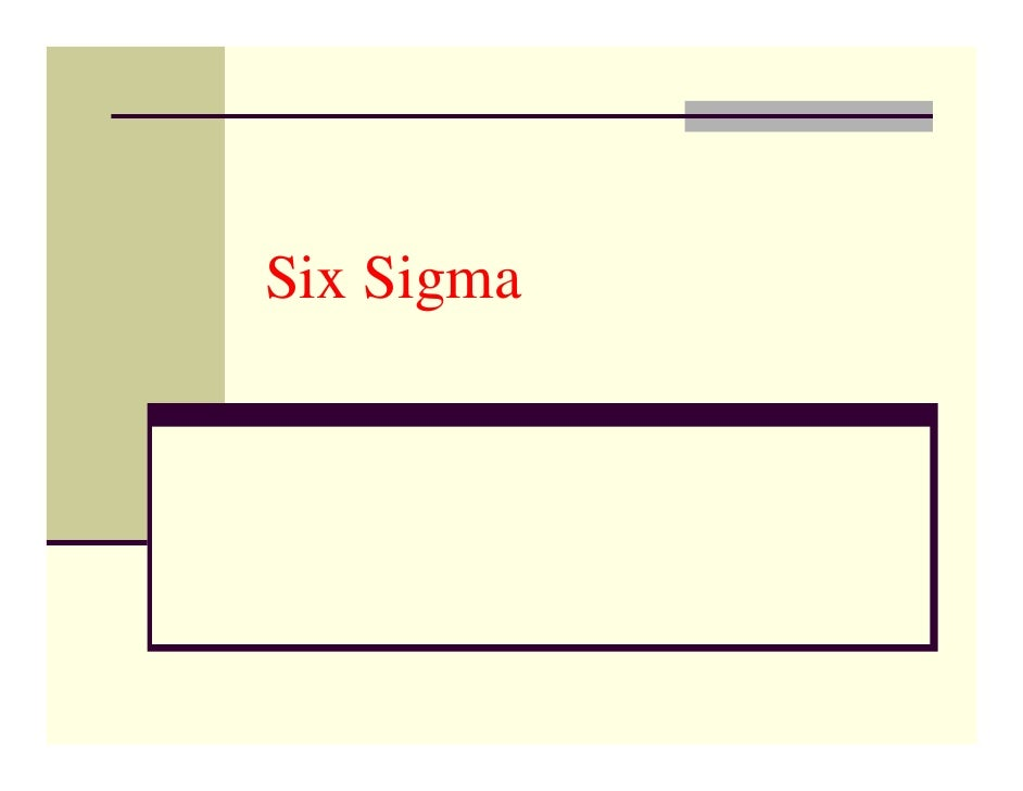 Aqm Programme   Six Sigma