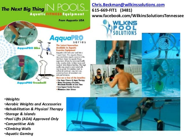 Aquatic Treadmills and Cycles for No Impact Therapy